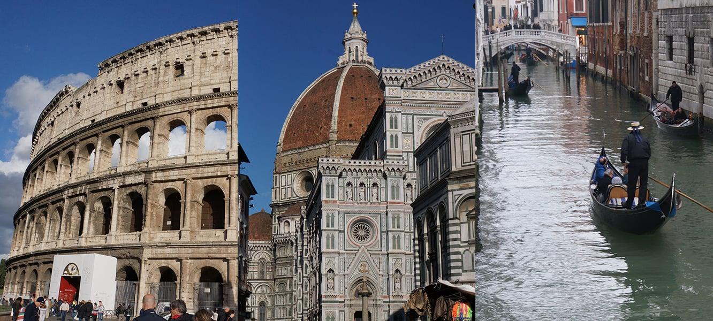 ローマ・フィレンツェ・ヴェネツィア