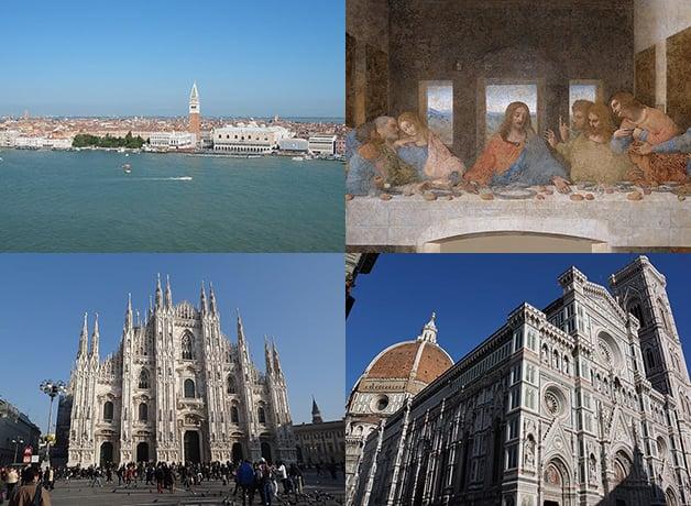 ヴェネツィア・ミラノ・フィレンツェ